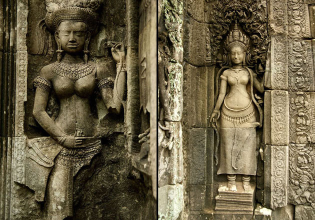 a-statue-at-the-bayon-temple-in-angkor-thom-cambodia
