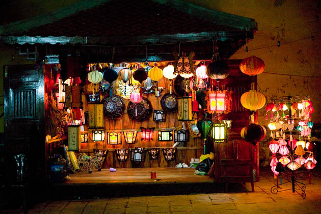 Lanterns for sale in Hoi An at night