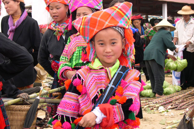 Smiling little girl in Sapa