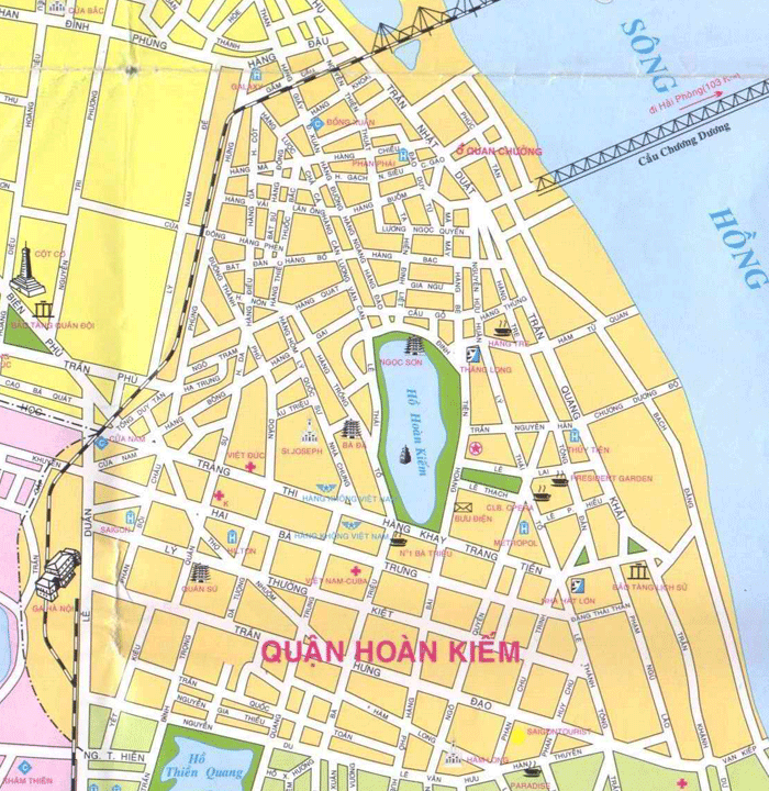 Map Old Quarter Hanoi