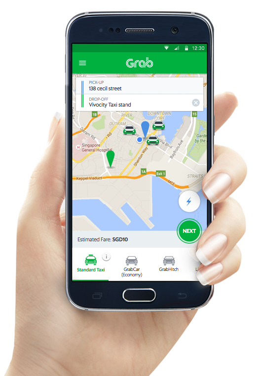 Application mobile Grab